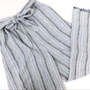Anthro Cloth & Stone Stripe Wide Leg Flowy Pants